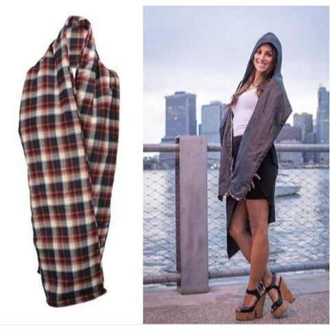 The RainScarf Reversible Waterproof Scarf with Hood and Pockets - 2 Pack-Daily Steals
