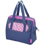 Thermos Raya Lunch Duffle Bag Tote - Navy & Magenta-