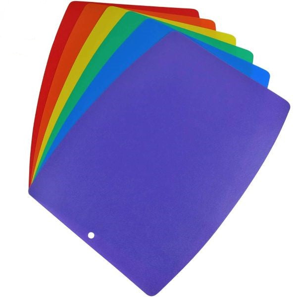 Thin and Rugged Colorful Cutting Board Set - 6 Pack-Daily Steals