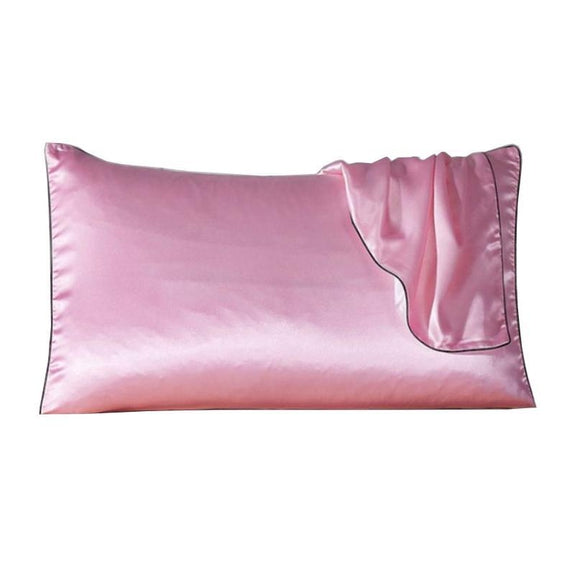 100% Silk Pillow Cover With Trim-Daily Steals