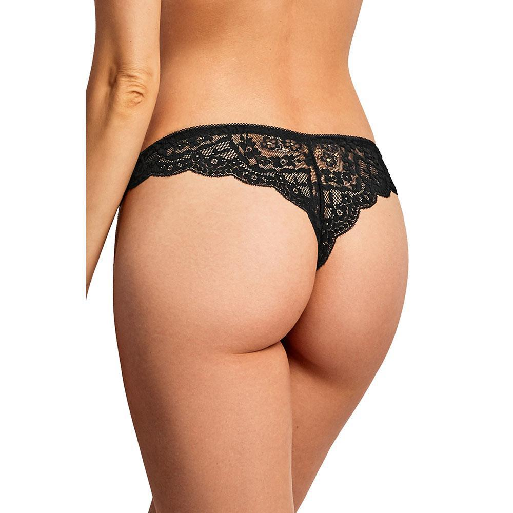 update alt-text with template Daily Steals-[12 Pack] Sexy Solid Lace Premium Nylon Thong-Women's Accessories-S-