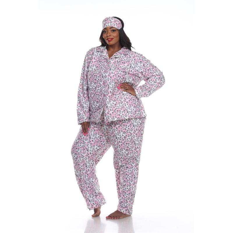 Three-Piece Pajama Set-Grey Cheetah-1X-Daily Steals
