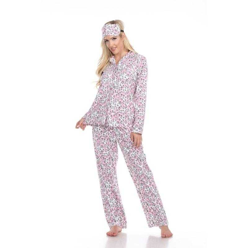 Three-Piece Pajama Set-Grey Cheetah-M-Daily Steals