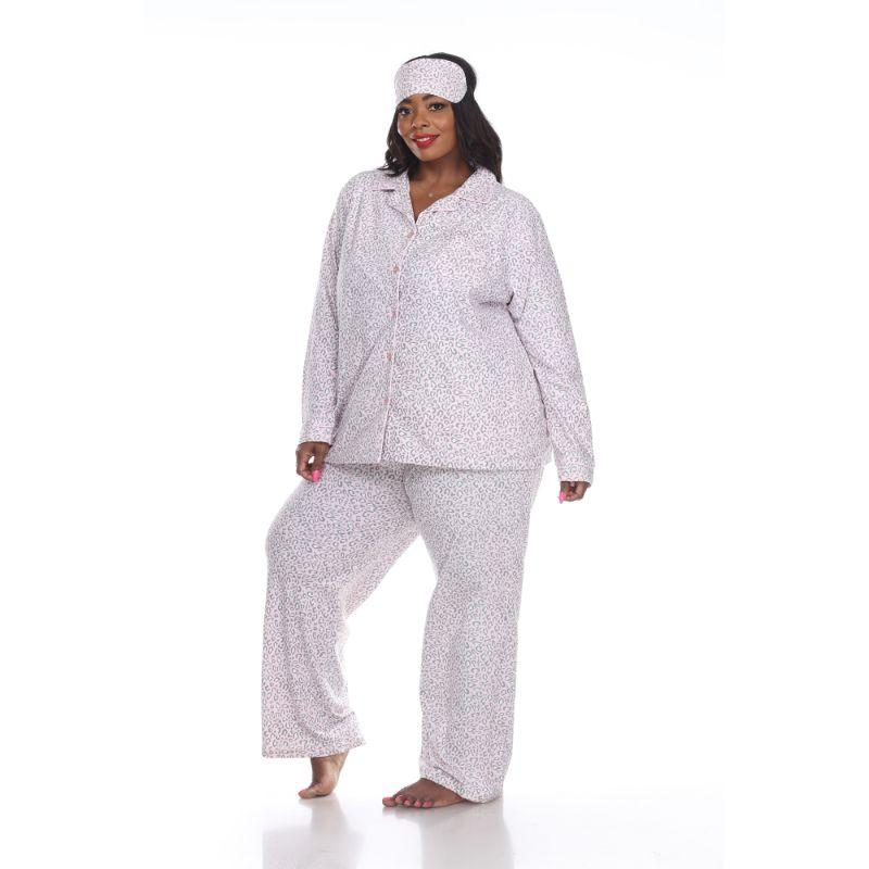 Three-Piece Pajama Set-Pink Cheetah-2X-Daily Steals