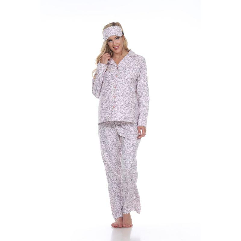 Three-Piece Pajama Set-Pink Cheetah-XL-Daily Steals