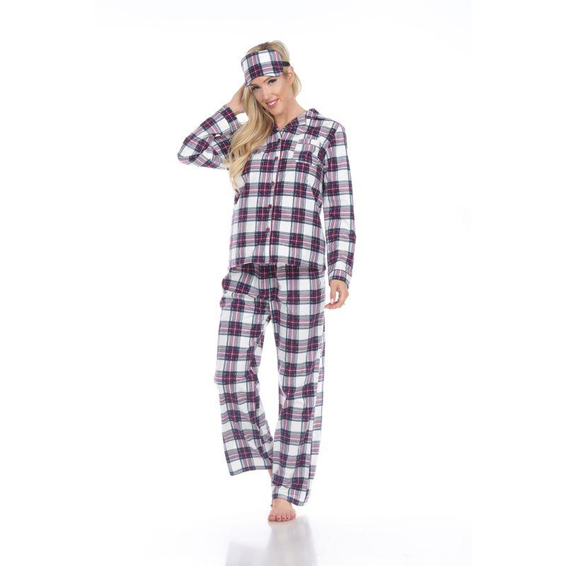 Three-Piece Pajama Set-Purple/White-S-Daily Steals