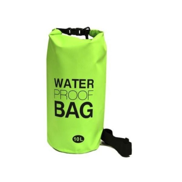 Waterproof 10-Liter Dry Bag with Shoulder Strap-Green-Daily Steals
