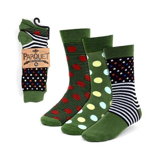 Parquet Mens Fancy Dress Socks - 3 Pairs-Daily Steals