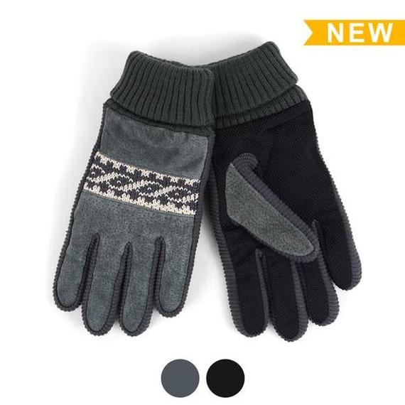 [BOGO] Men's Genuine Leather Non-Slip Grip Winter Gloves with Soft Acrylic Lining-Daily Steals