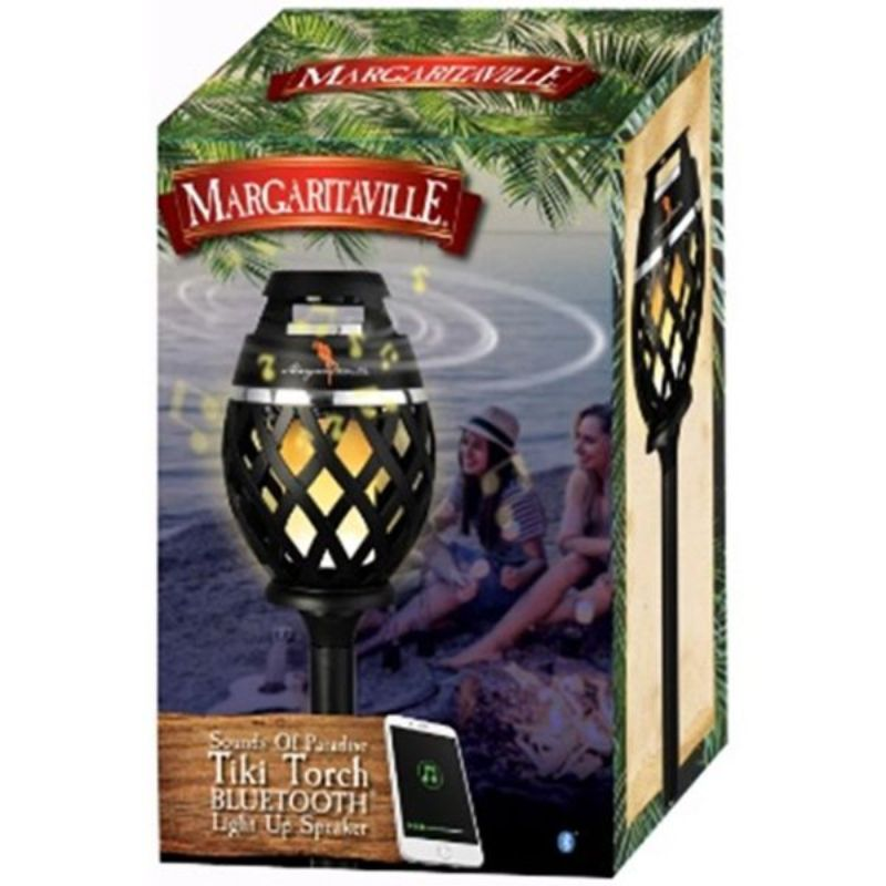 Margaritaville Bluetooth LED Flame Tiki-Torch Speaker with 3-Foot Pole-Daily Steals
