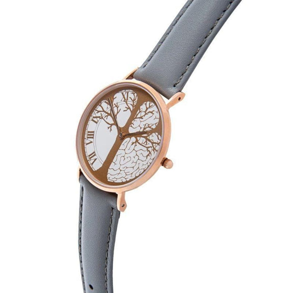 """Timeless"" Time-Peace Watch-Rose Gold / Grey-36mm-"