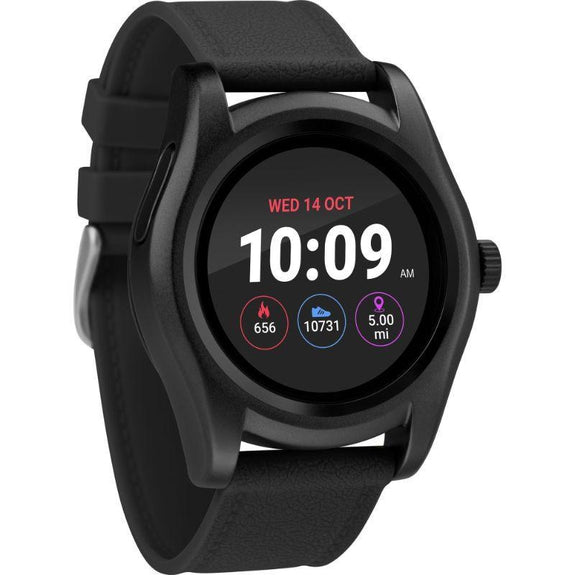 Timex Boutique iConnect Style Smart Watch-Black-Round-