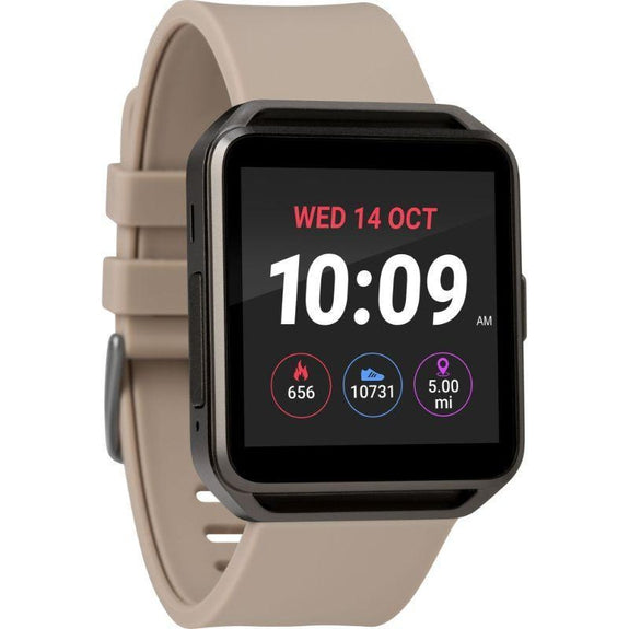 Timex Boutique iConnect Style Smart Watch-Tan-Square-