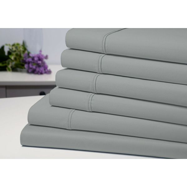Bamboo 6-Piece 1800 Count Extra Soft Luxury Sheet Set-Silver-Full-Daily Steals