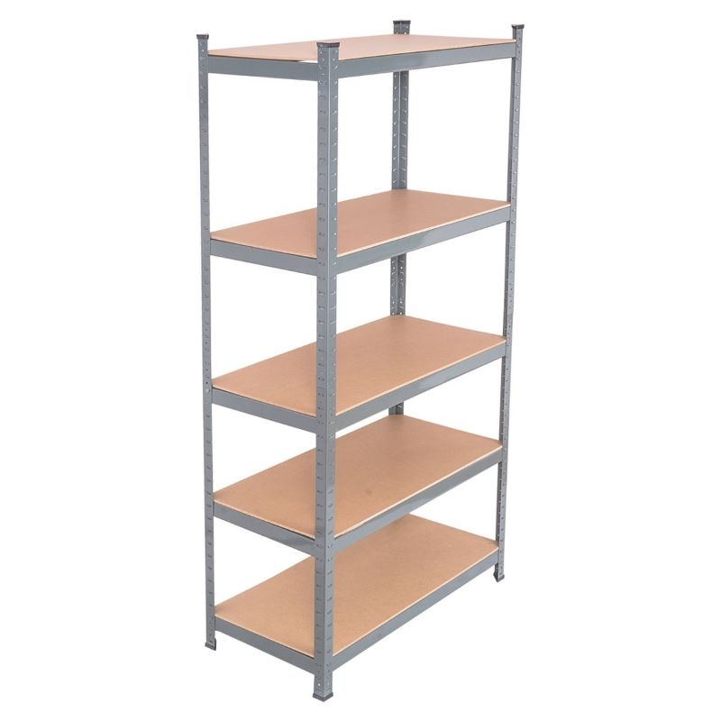 "71"" Heavy Duty Steel Adjustable 5 Level Storage Shelves"