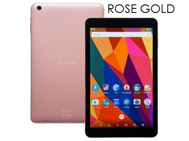"NuVision 8"" Quad Core Android Tablet with Dual Camera-Rose Gold-Daily Steals"