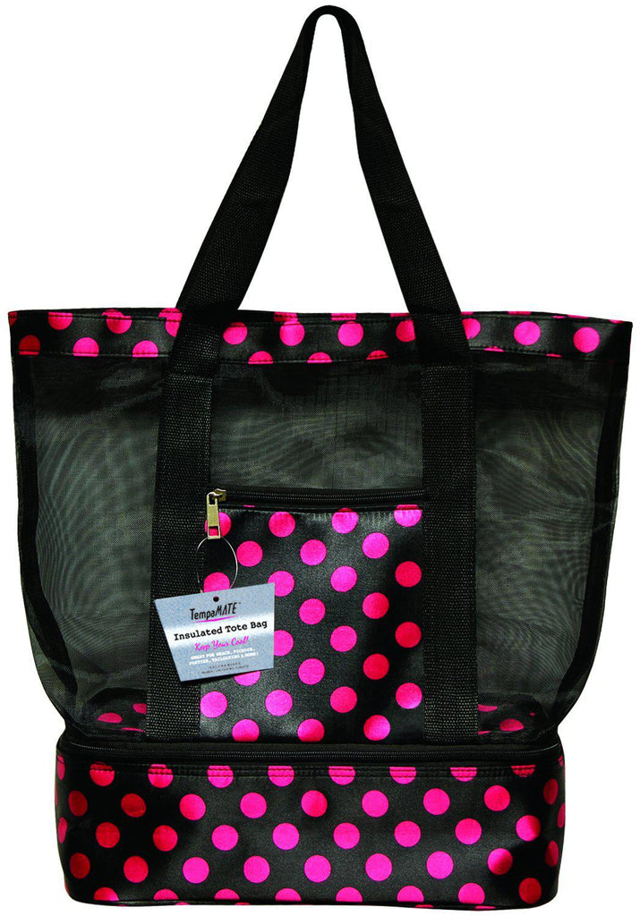 TempaMATE Two-in-One Insulated Tote Bag-Bright Pink-Daily Steals