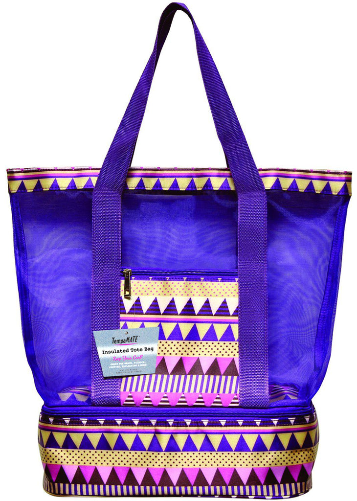 TempaMATE Two-in-One Insulated Tote Bag-Purple-Daily Steals