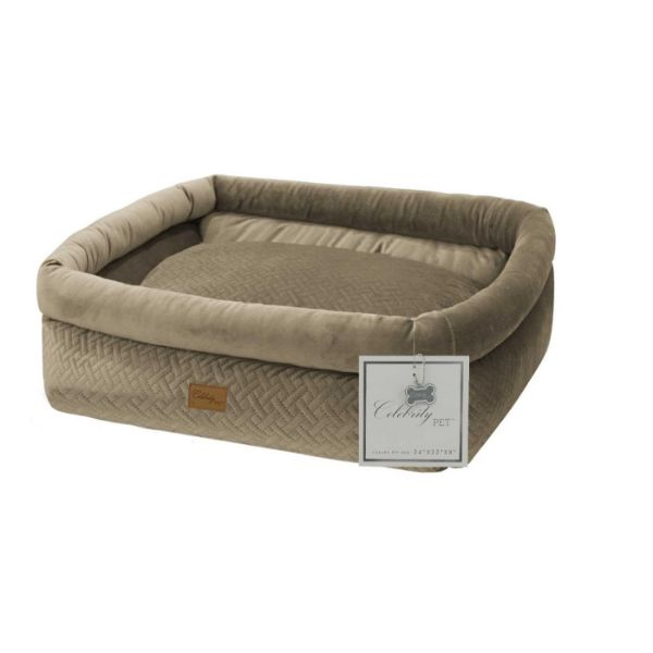 Daily Steals-Celebrity Dog Bed with Removable Cushion-Pets-Beige-Small-