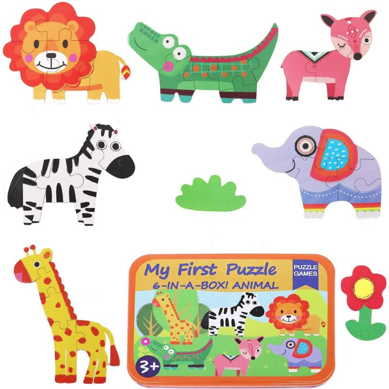 6 in a Box Puzzle Games for Kids Ages 2-6 Year Old, Animal Puzzles