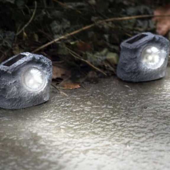 Solar Rock Landscaping Lights-Daily Steals