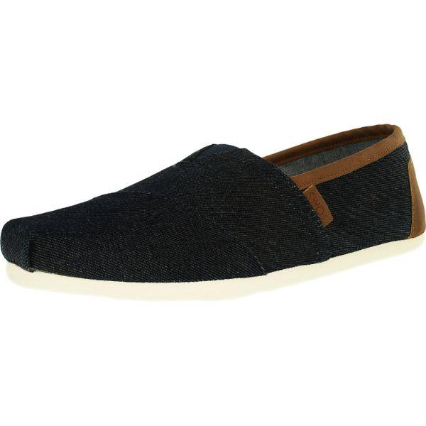 Daily Steals-Toms Men's Classic Denim Dark Ankle-High Canvas Slip-On Shoes - 11.5-Accessories-