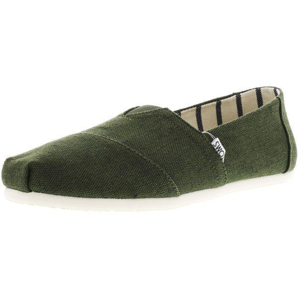 Daily Steals-Toms Men's Classic Heritage Canvas Ankle-High Slip-On Shoes-Accessories-Forest Green-10-