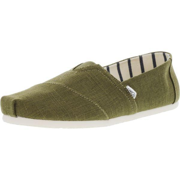 Daily Steals-Toms Men's Classic Heritage Canvas Ankle-High Slip-On Shoes-Accessories-Military Green-10-
