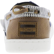 Toms Bimini Canvas Navy Stripes Ankle-High Flat Shoes for Kids-Daily Steals