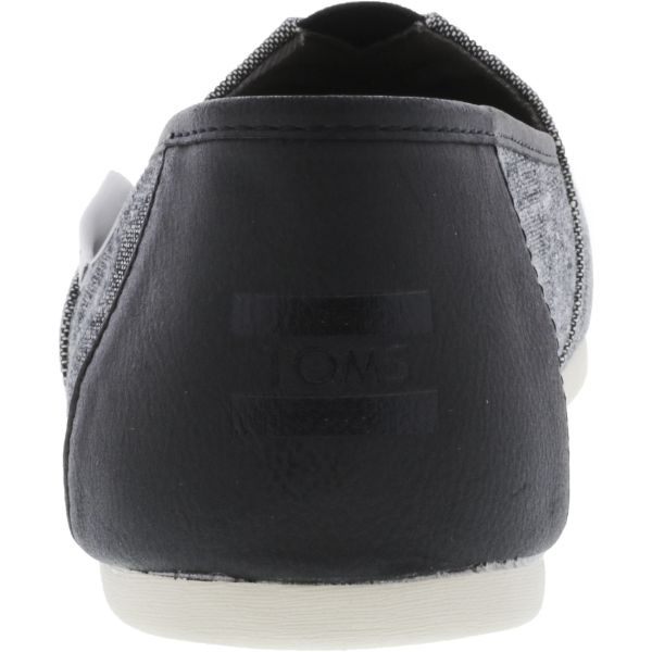 Toms Men's Classic Textured Chambray Black Trim Ankle-High Fabric Slip-On Shoes-Daily Steals
