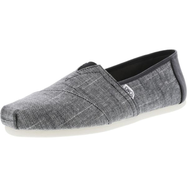 Toms Men's Classic Textured Chambray Black Trim Ankle-High Fabric Slip-On Shoes-10-Daily Steals