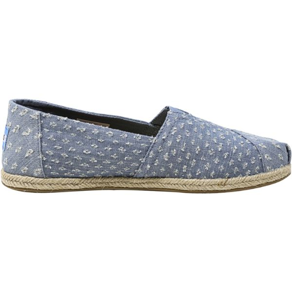 Toms Women's Classic Torn Denim Rope Sole Seaglass Ankle-High Fabric Slip-On Shoes - 8.5-Daily Steals