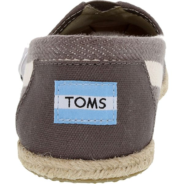 Toms Women's Classic Striped Canvas Dark Grey Stripe University Ankle-High Flat Shoes-Daily Steals