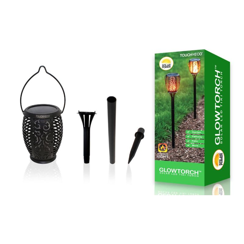 "Touch Of ECO GLOWTORCH Solar 32-LED Flickering 26"" Garden Stake Lights-1 Pack-Daily Steals"