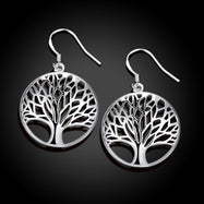 Tree of Life Drop Earrings-Daily Steals