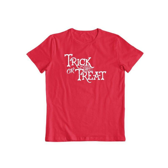 Trick Or Treat Unisex Halloween T-Shirt-Red-S-Daily Steals