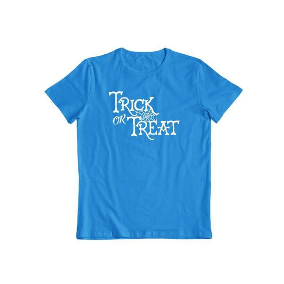 Trick Or Treat Unisex Halloween T-Shirt-Sapphire-S-Daily Steals