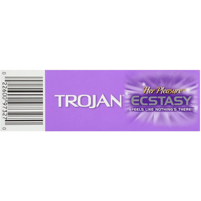 Trojan Her Pleasure Ecstasy Lubricated Condoms 10 Count - 3 Pack