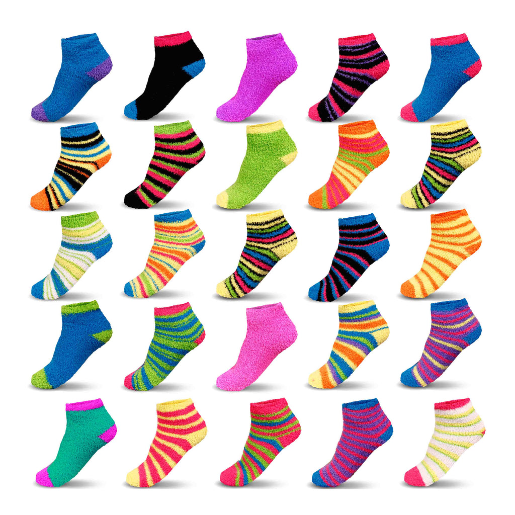 10-Pairs Mystery Deal: Women's Cozy Warm Fuzzy Fluffy Slipper Socks-Daily Steals