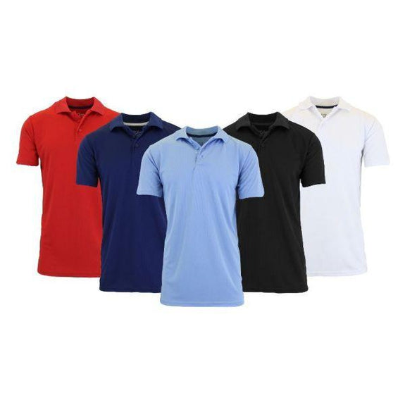 Men's Dry Fit Moisture-Wicking Polo Shirts - 3 Pack-Daily Steals