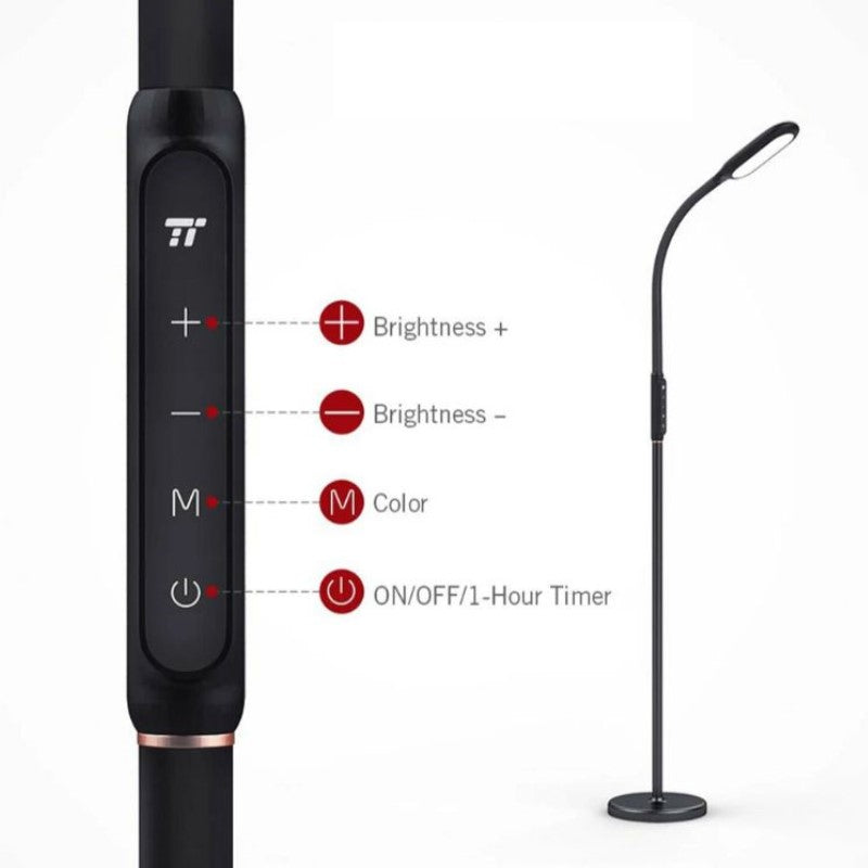 Taotronics Adjustable Height Floor and Desk Lamp with Dimmable LEDs-Daily Steals