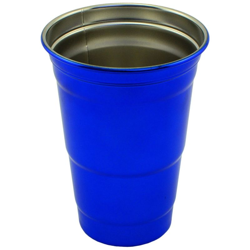Stainless Steel 16 oz. Party Cup-Blue-Daily Steals