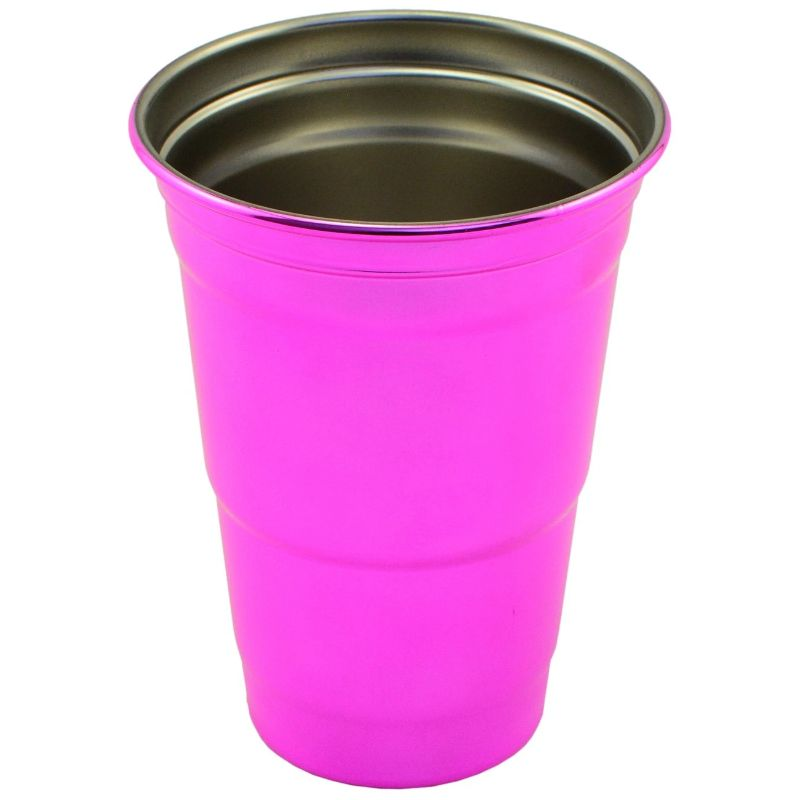Stainless Steel 16 oz. Party Cup-Pink-Daily Steals