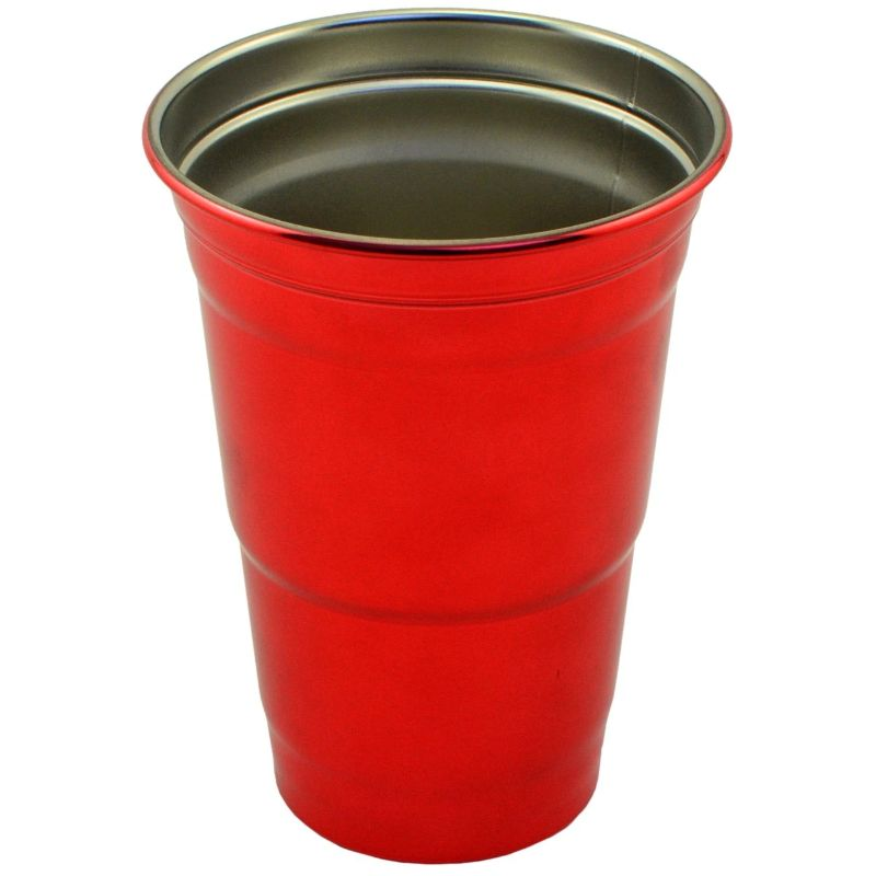 Stainless Steel 16 oz. Party Cup-Red-Daily Steals