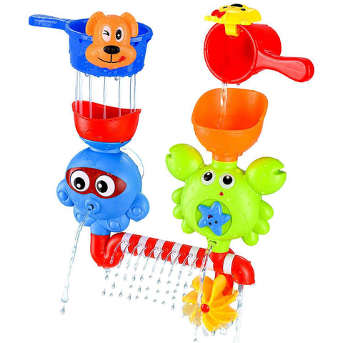 Daily Steals-Baby Bath Waterfall Toys With Two Stackable Cups-Toddlers and Babies-