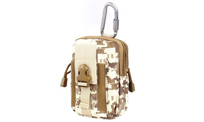 Tactical Compact Pouch and Multipurpose Utility Belt Waist Pack-White Camo-Daily Steals