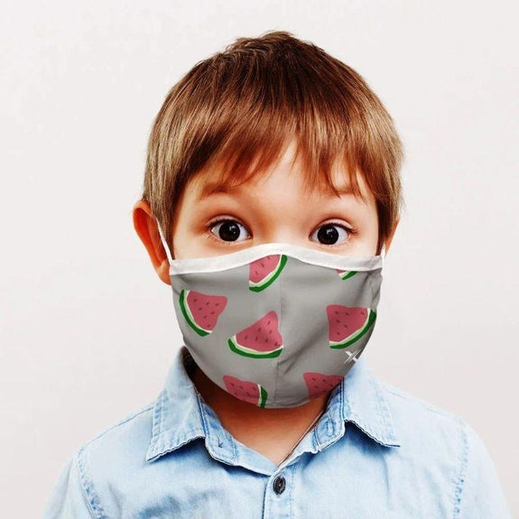 Two-Layer Reusable Kids Face Mask with Adjustable Earloop - 3 Pack-Daily Steals