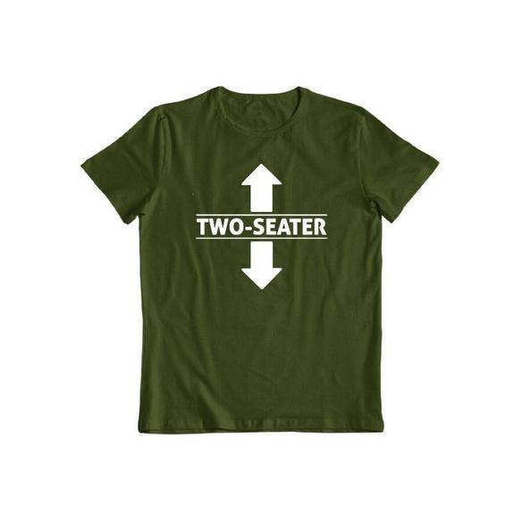 "Daily Steals-""Two Seater"" Funny T-shirt-Men's Apparel-Forest Green-S-"
