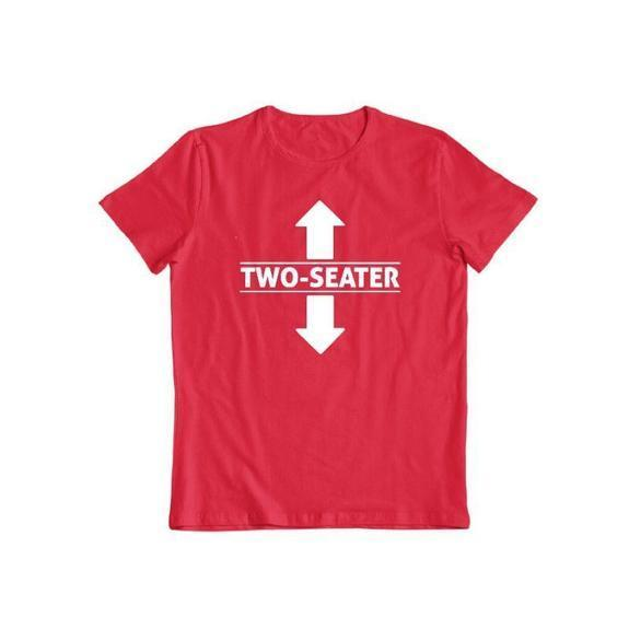 "Daily Steals-""Two Seater"" Funny T-shirt-Men's Apparel-Red-S-"
