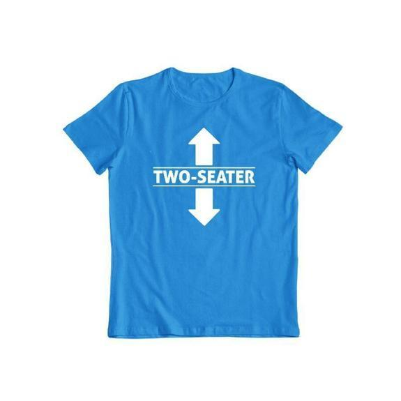 "Daily Steals-""Two Seater"" Funny T-shirt-Men's Apparel-Sapphire-S-"